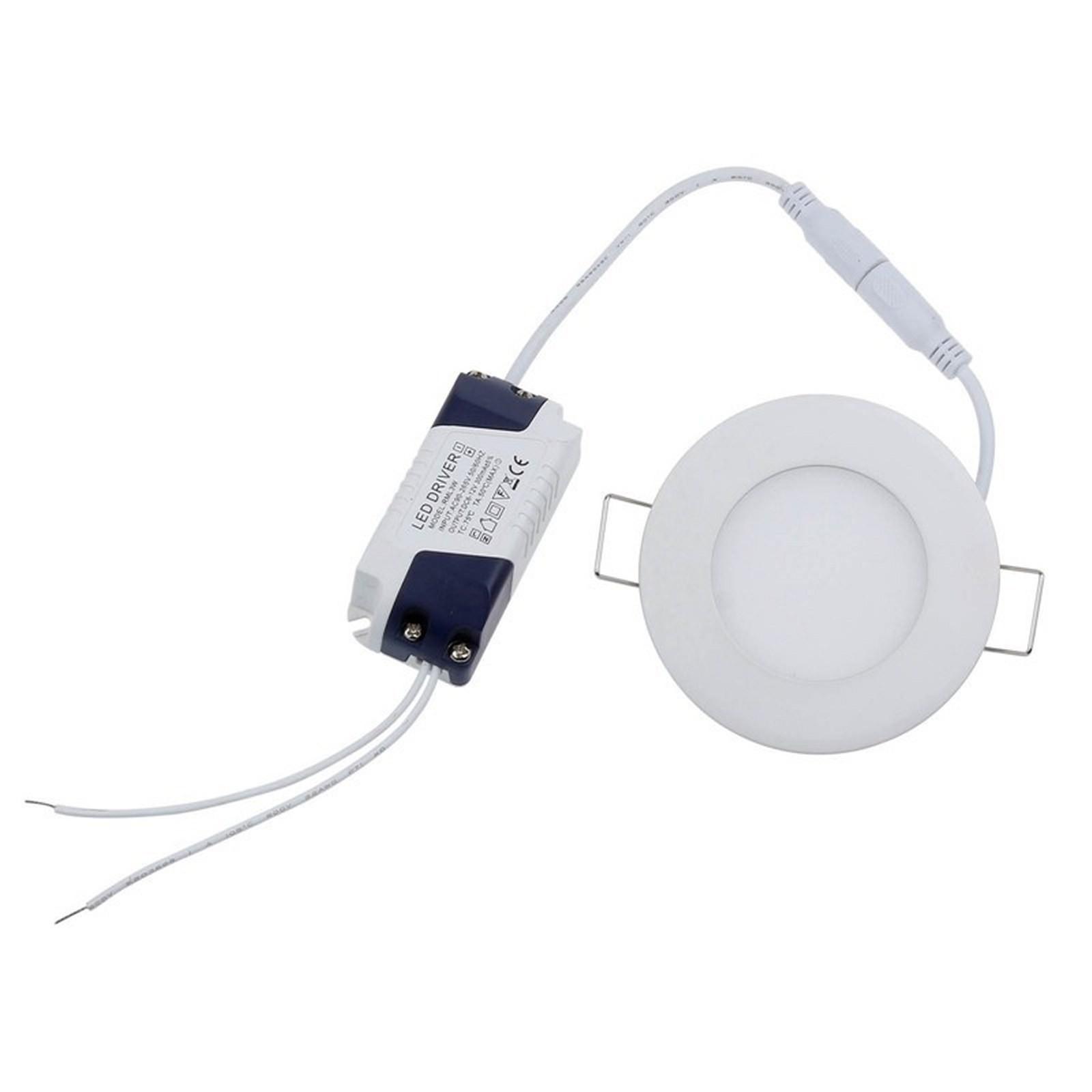 Faro faretto pannello led luce bianca fredda 3 watt for Luce bianca led