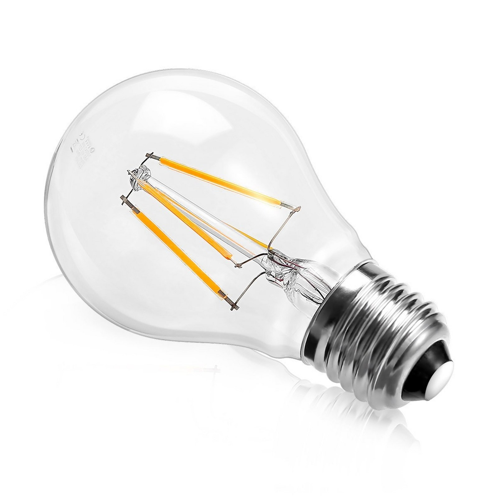 Lampada led lampadina filamento attacco e27 light a globo for Lampadine led 5 watt