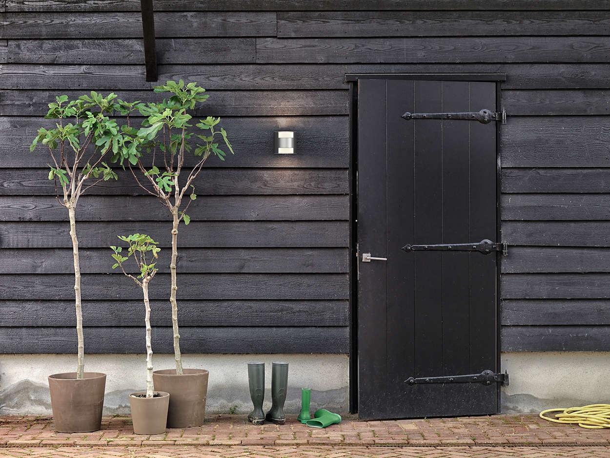 Applique per esterno philips mygarden erba in acciaio area illumina