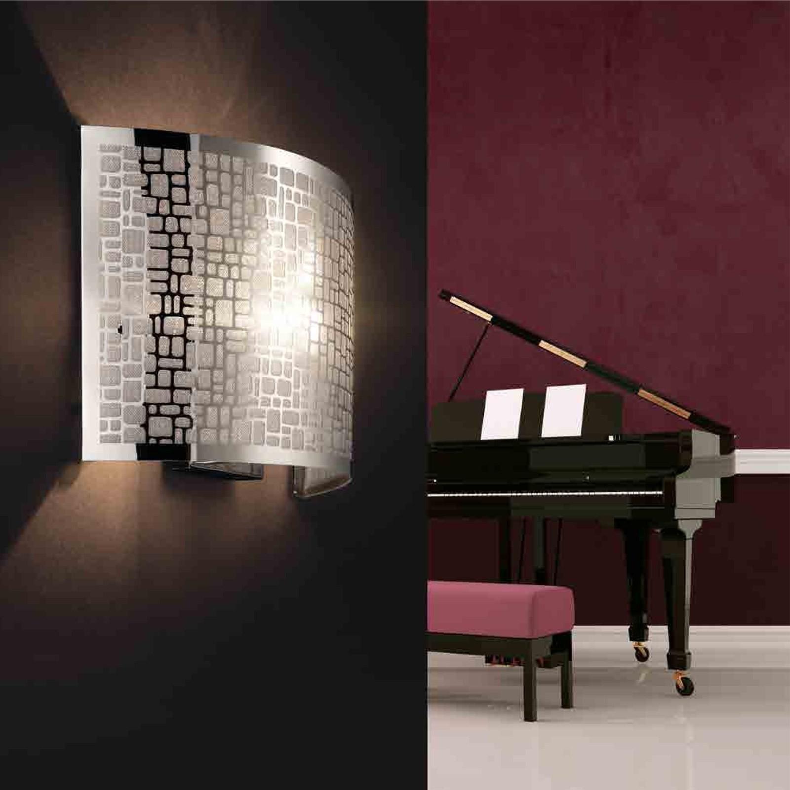 Applique lampada da parete in acciaio ariel pan luce - Luci da interno a parete ...