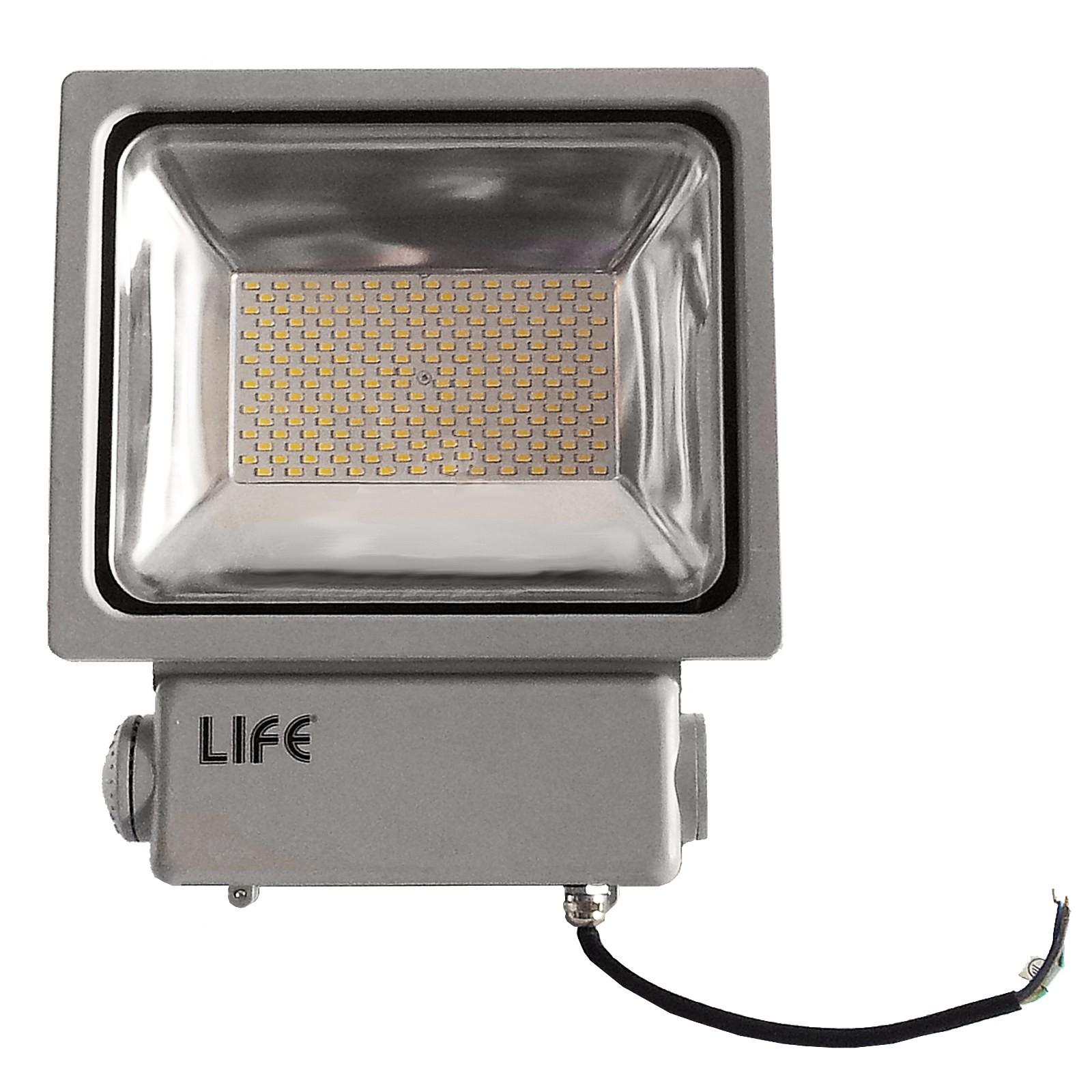 Faretto faro led gh1 100 watt 8750 lumen per esterno luce for Luce bianca led