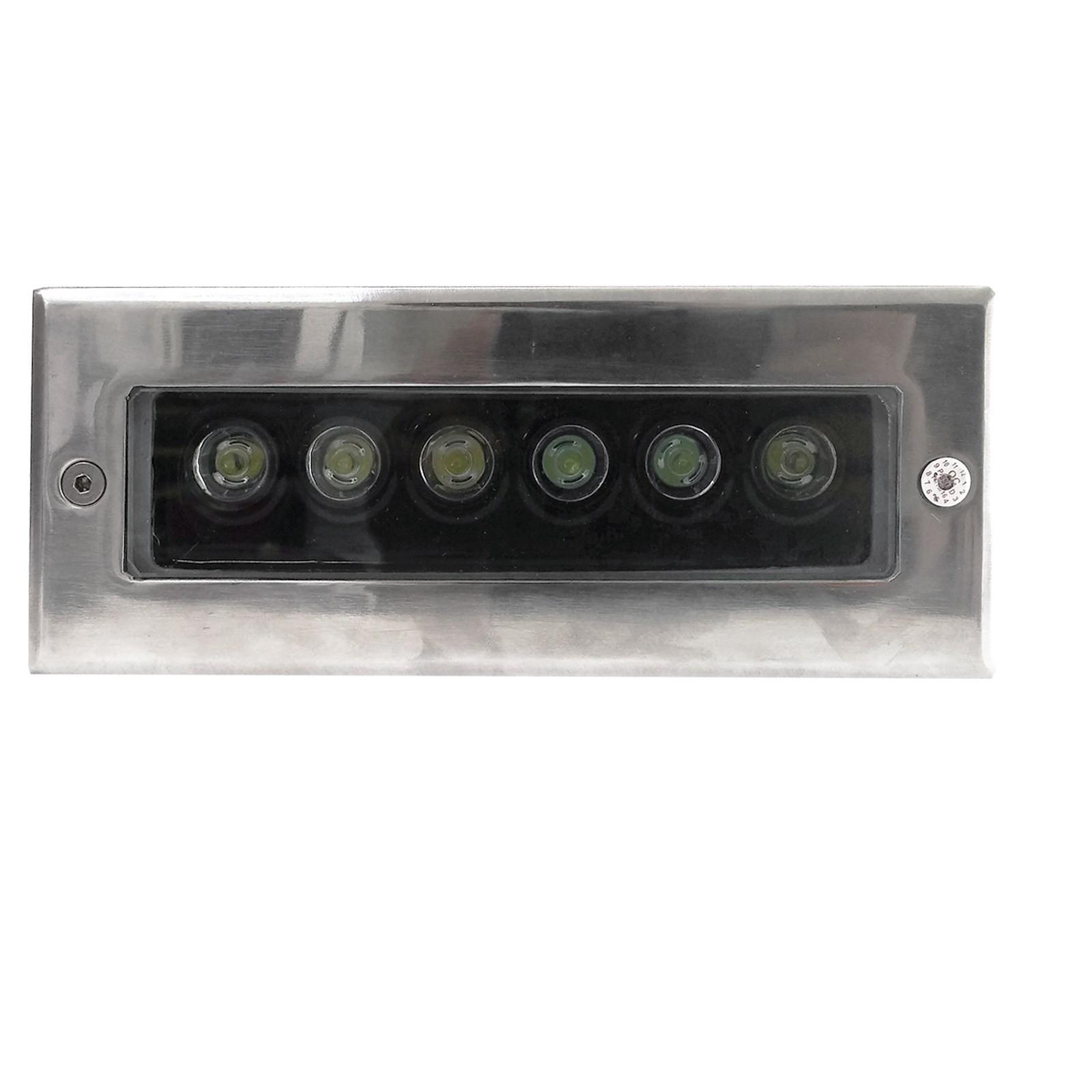 Faretto led 6w segnapasso incasso luce multicolare rgb da for Led per esterno