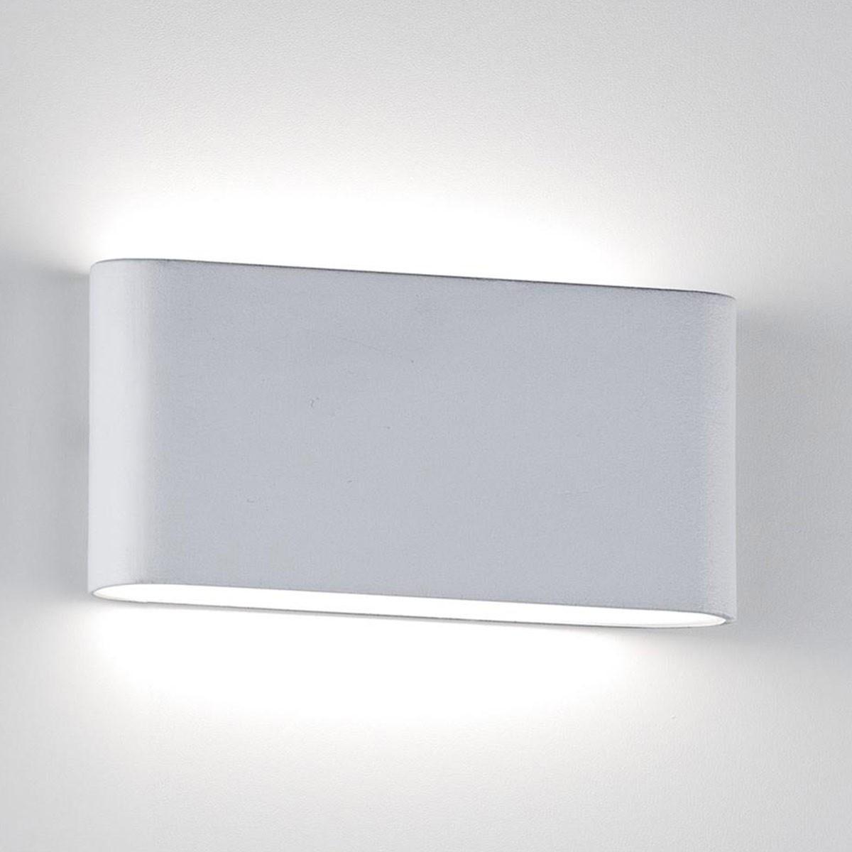 Applique faretto led isyluce interno esterno bianco 10w 3000k area illumina - Applique led esterno ...