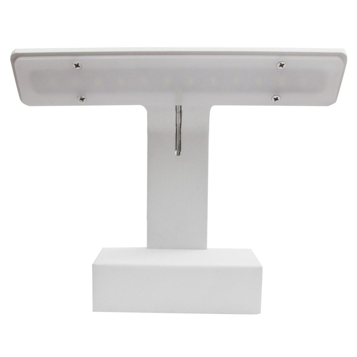 Applique bianco luce led da quadro 6w 3000k isyluce area - Faretto specchio bagno ...