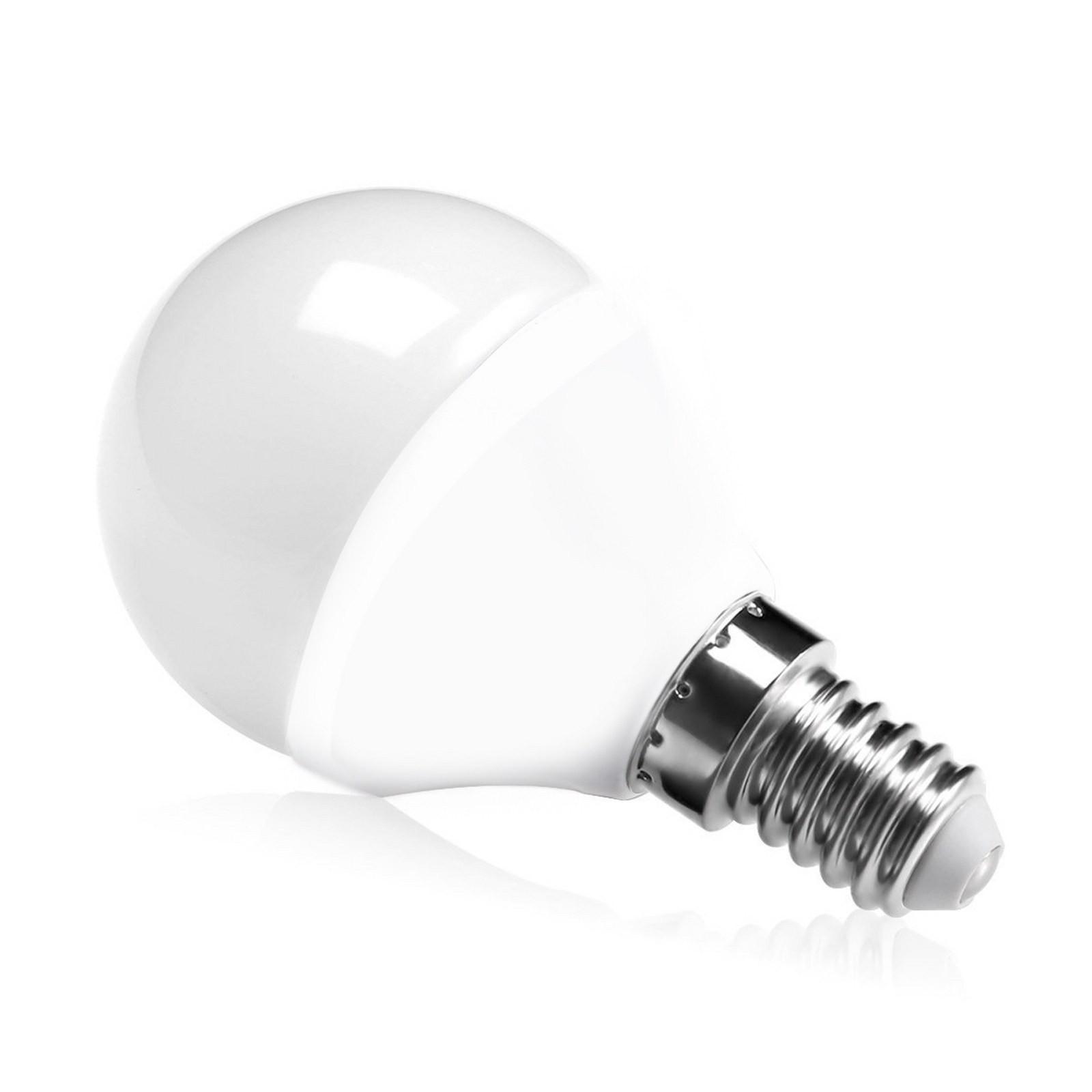 Lampada lampadina led e14 5 5w mini sfera luce naturale for Lampada led lunga