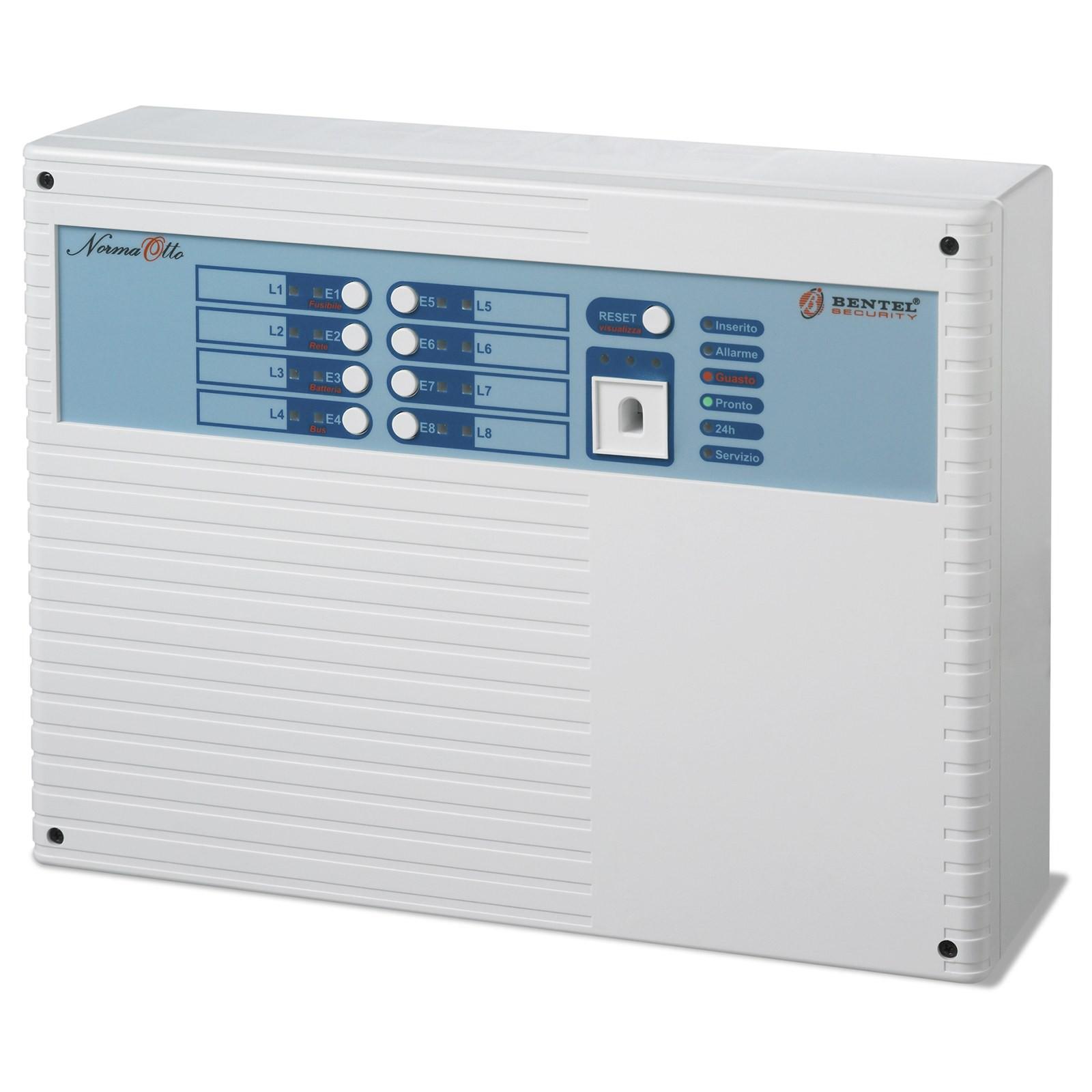 Kit allarme antifurto bentel centrale norma 8t 8 zone for Bentel norma 8