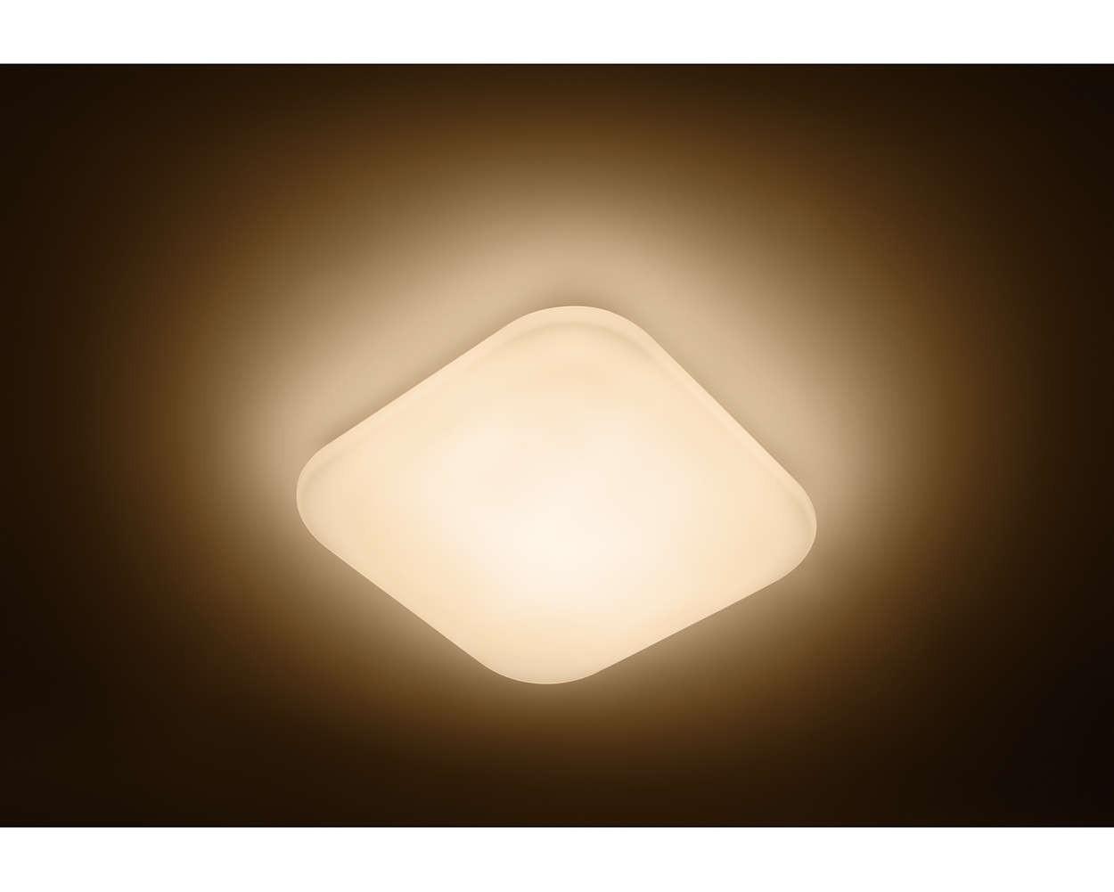 Plafoniere Led Luce Calda : Plafoniera a led bianca philips malva w luce calda area illumina