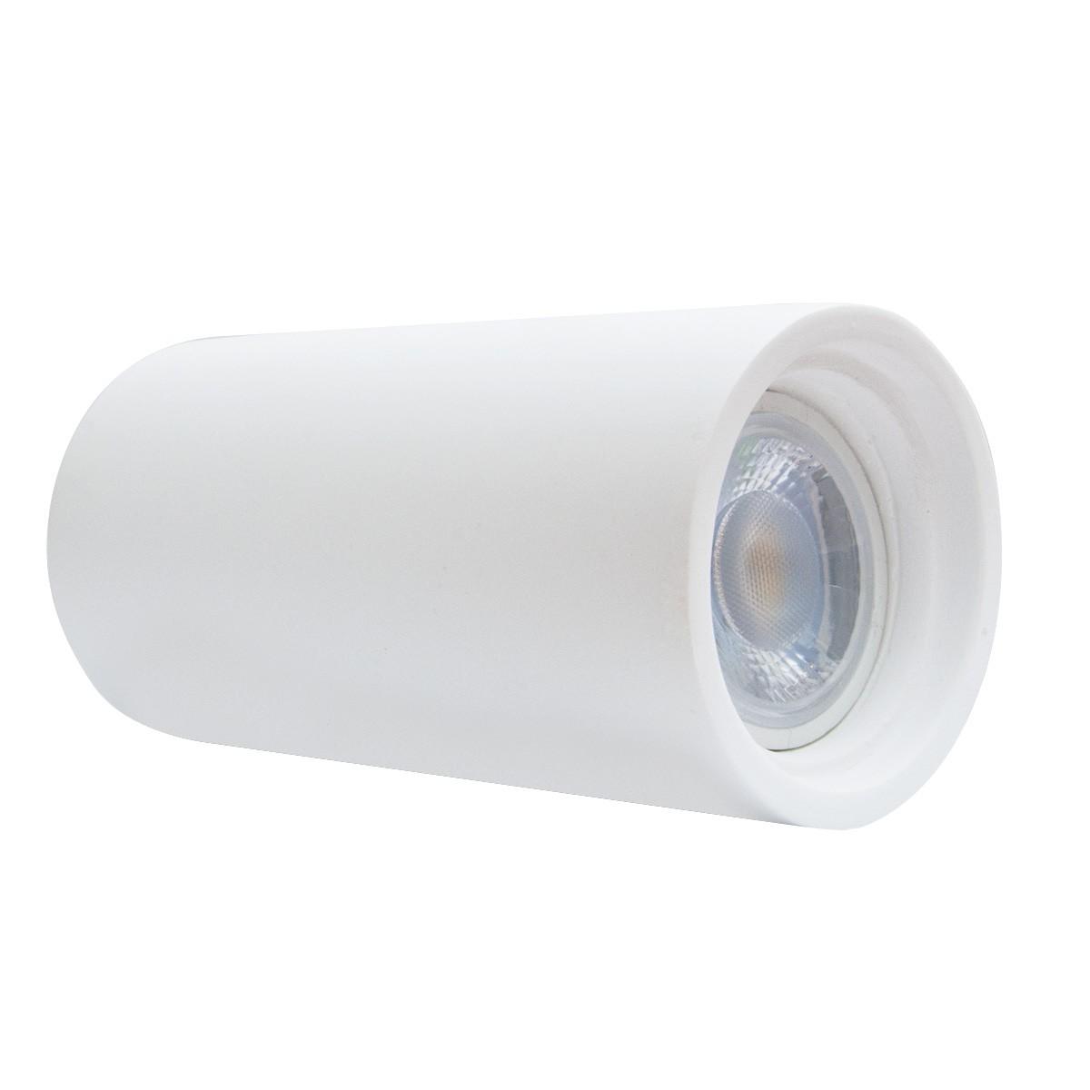 Faretti Esterni Soffitto.Faretto Esterno Da Soffitto A Tubo H14 In Gesso Bianco