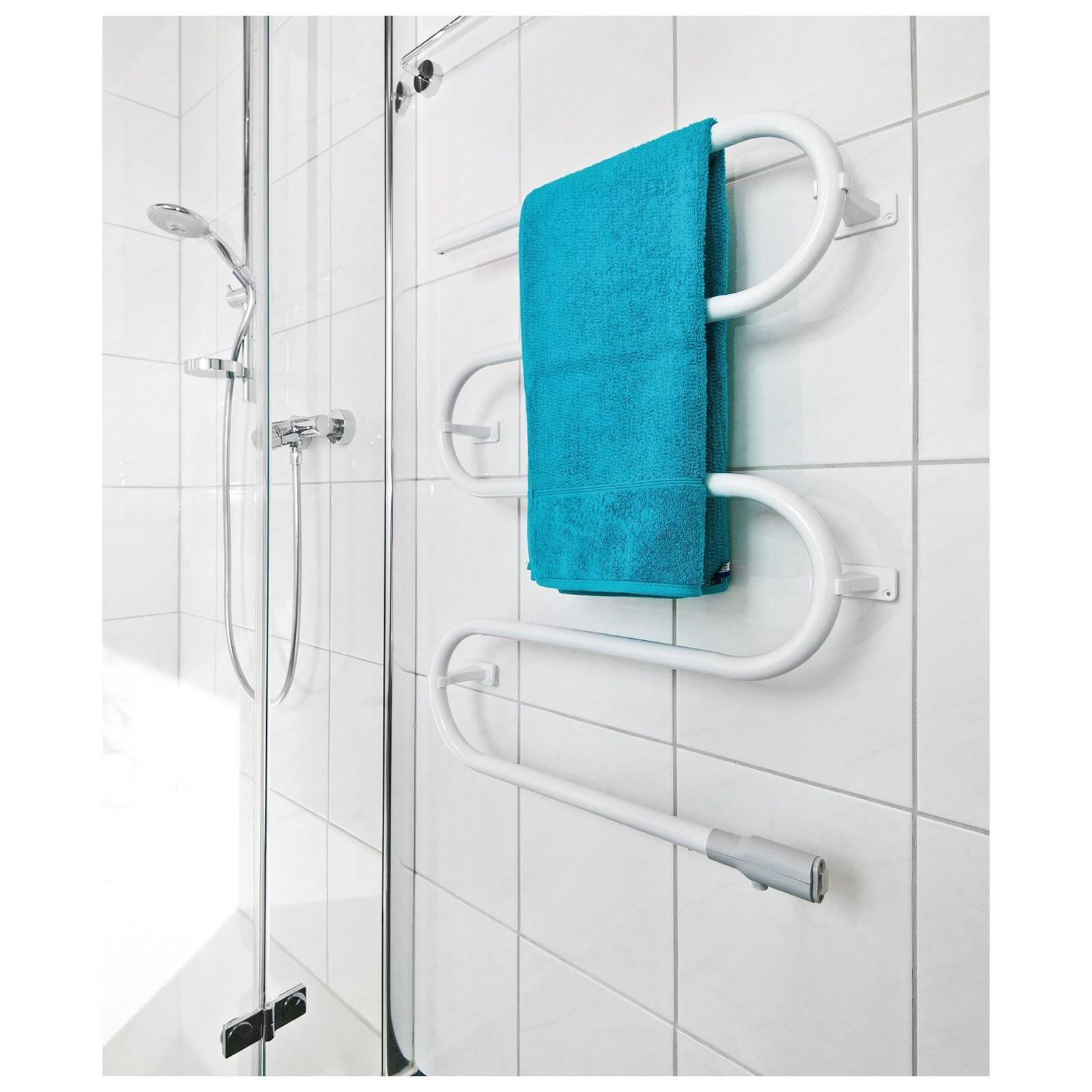 Termoarredo scaldasalviette radiatore elettrico portasciugamani da bagno bianco area illumina - Scaldasalviette da bagno ...