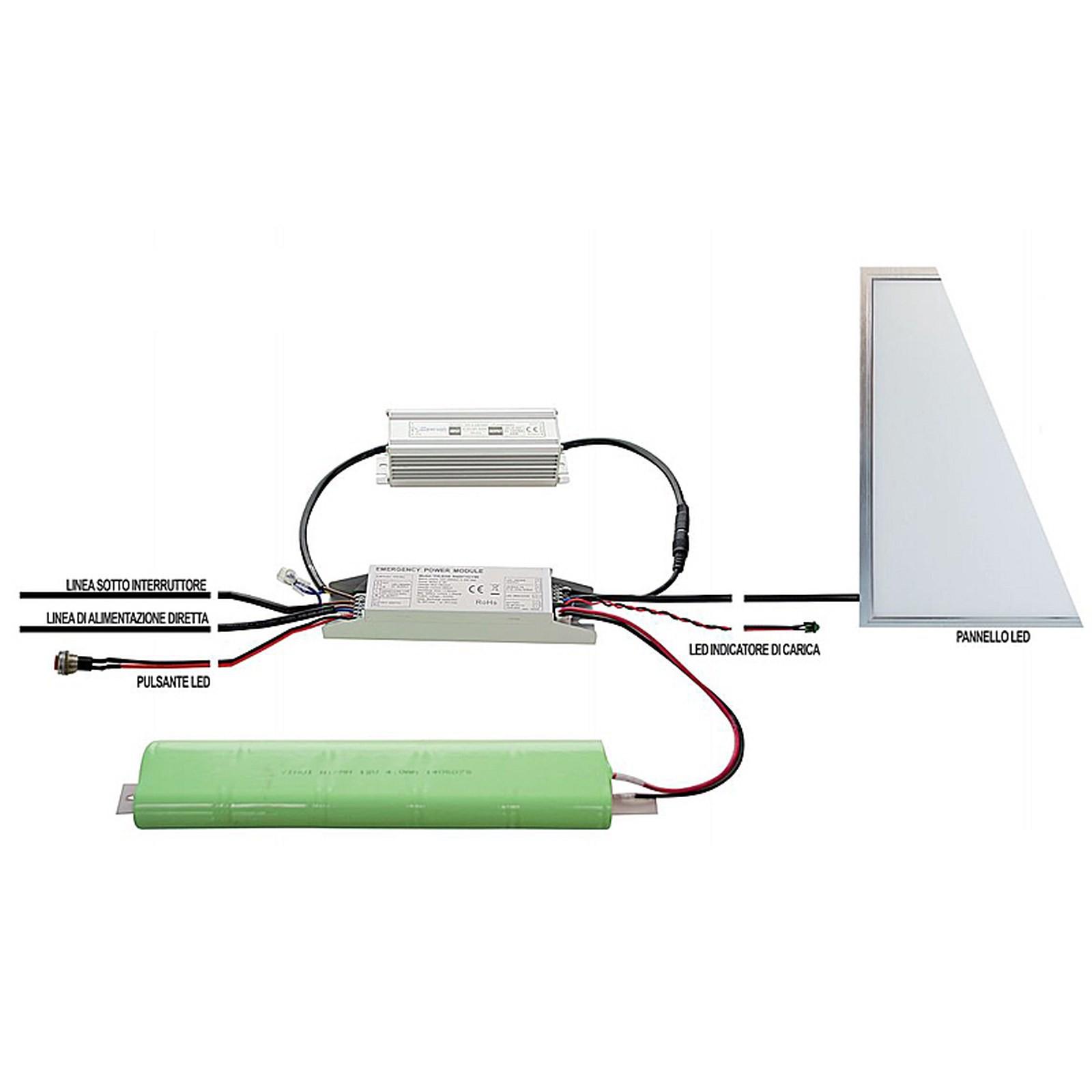 Schema Elettrico Lampada Di Emergenza A Led : Kit di conversione batteria luci emergenza per faretto