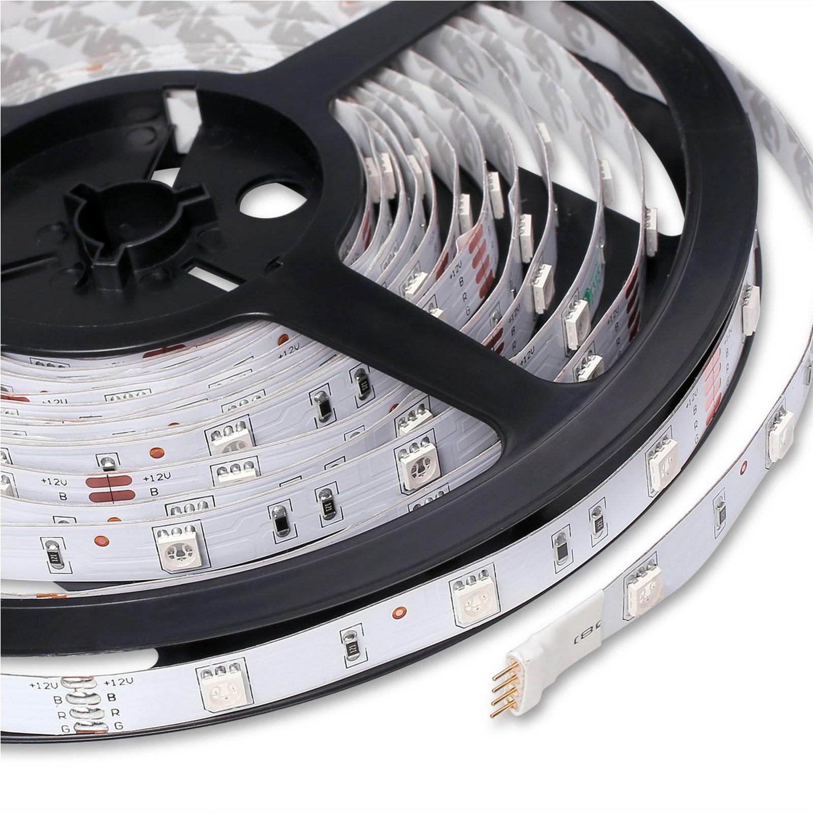 Striscia 5050 led strip rgb 5m smd bobina flessibile for Striscia led rgb