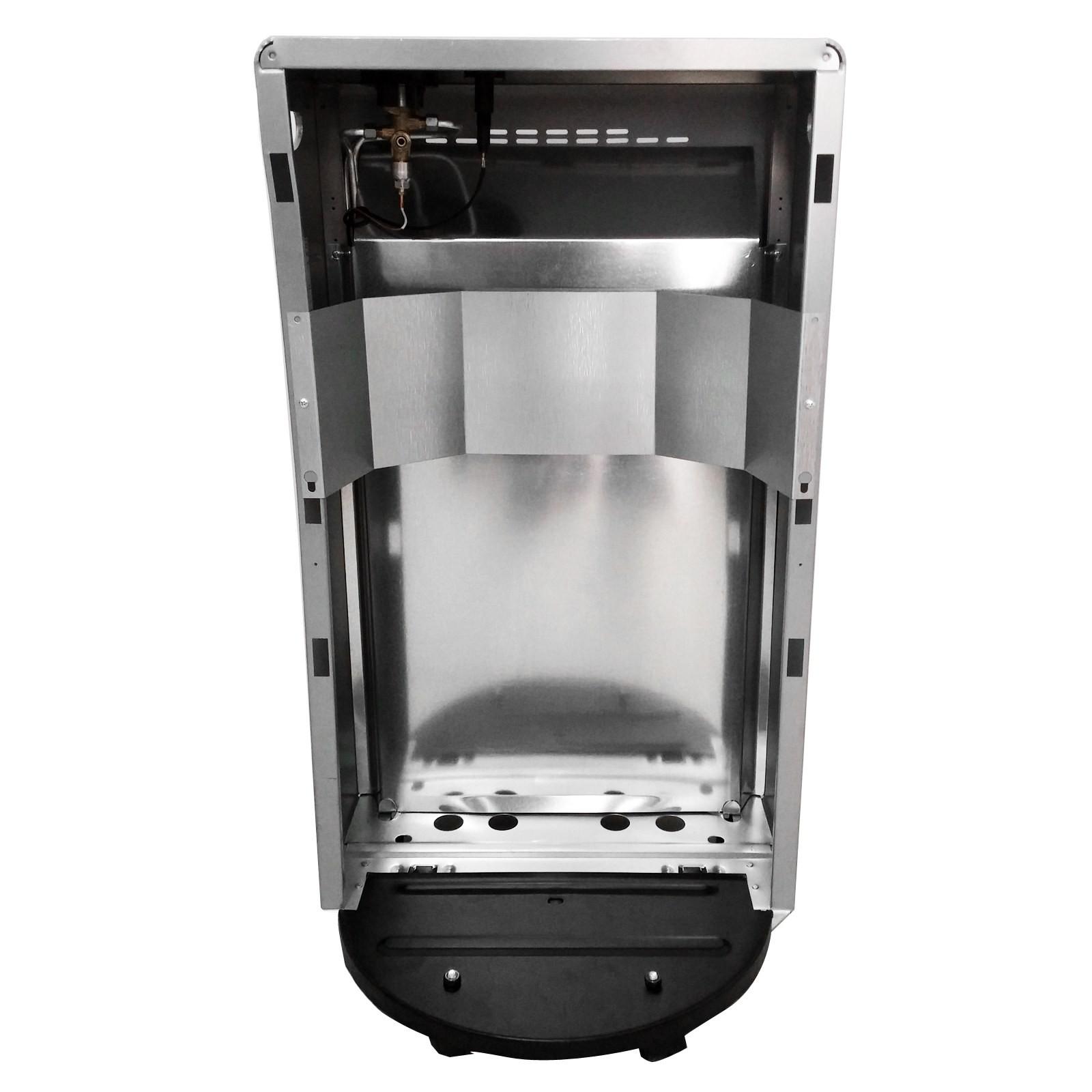 Stufa a gas gpl riscaldamento infrarossi bartolini bombola for Stufe pirolitiche per riscaldamento