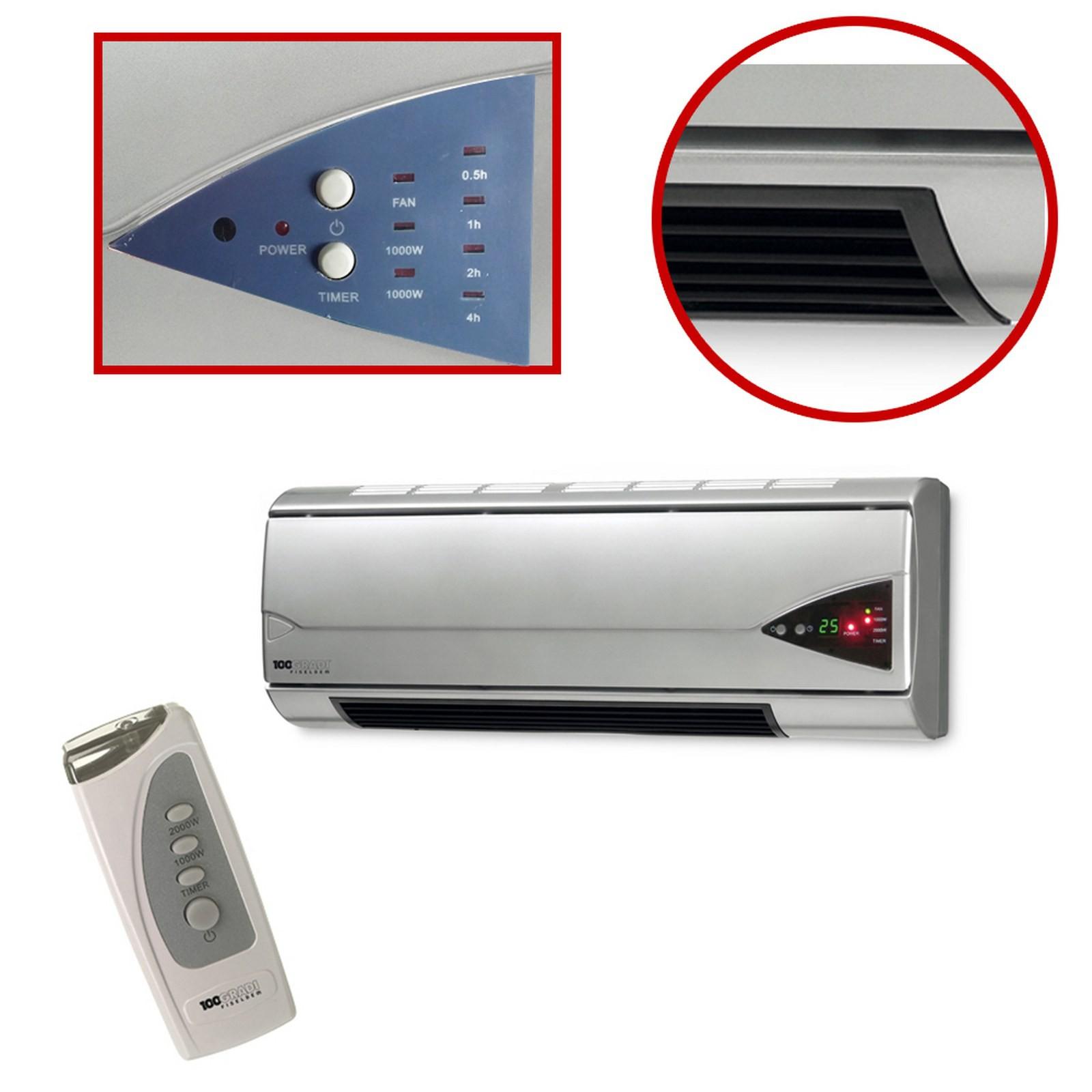 Termoventilatore stufa parete termobagno riscaldamento for Termoventilatore bagno