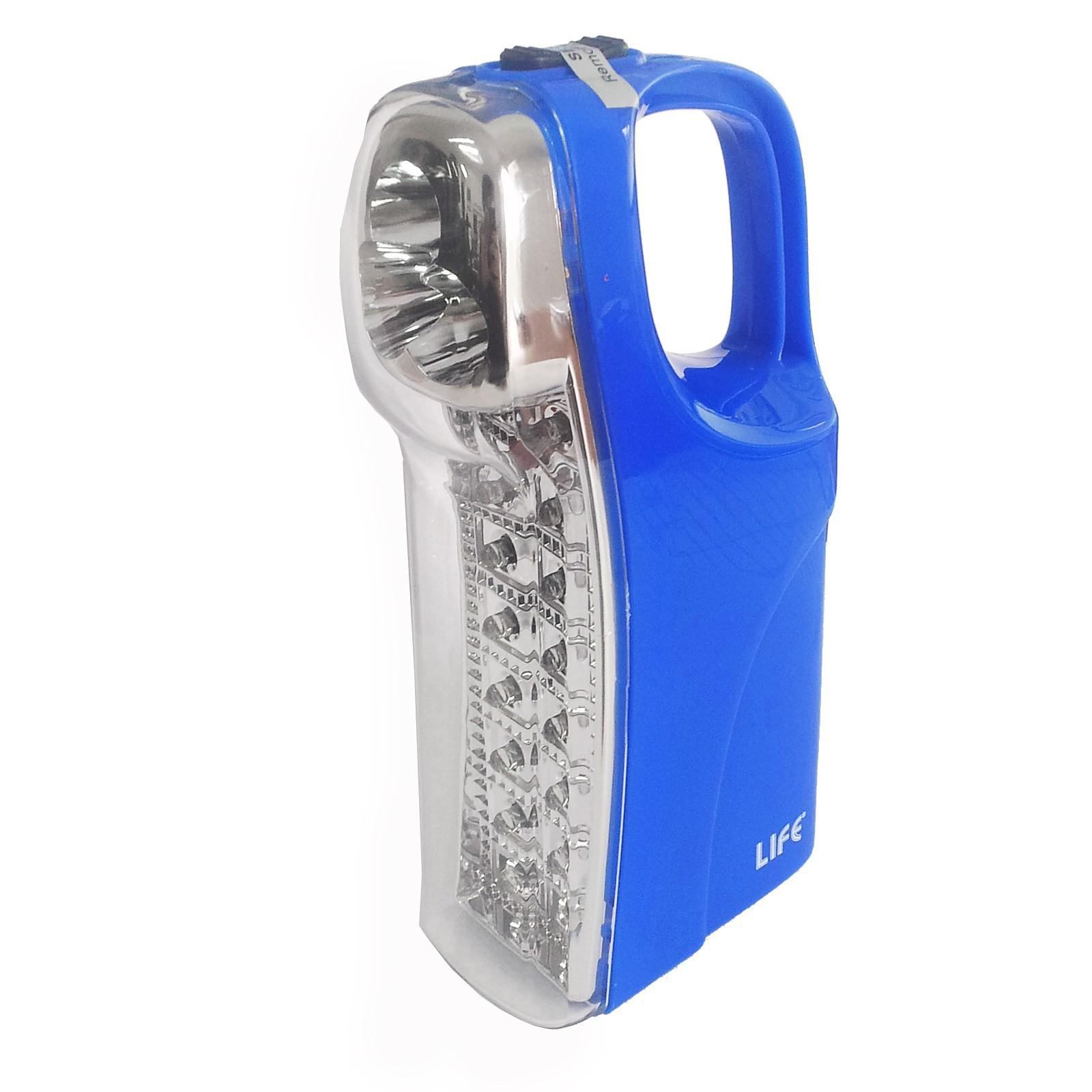 Lampada ricaricabile luce emergenza portatile 16 3 led for Lampada di emergenza a led