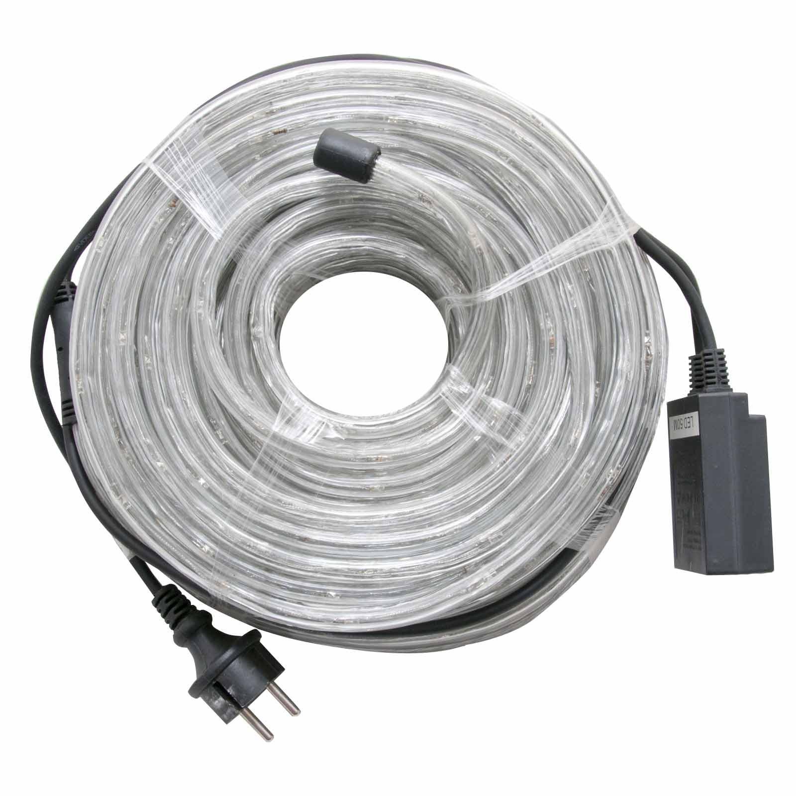 tubo luminoso 20 metri bianco esterno luci natalizie per