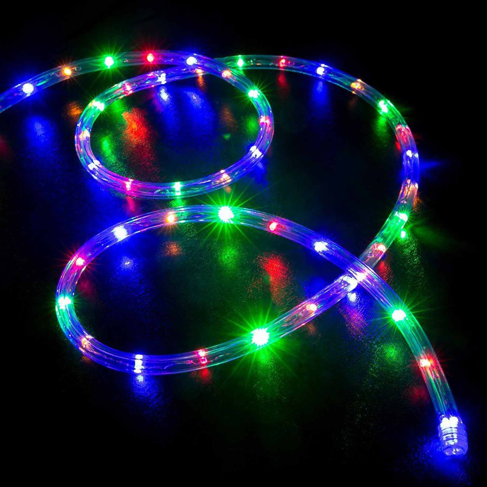 Tubo luminoso 10m luci di natale luce multicolor rgb led for Luci a tubo led