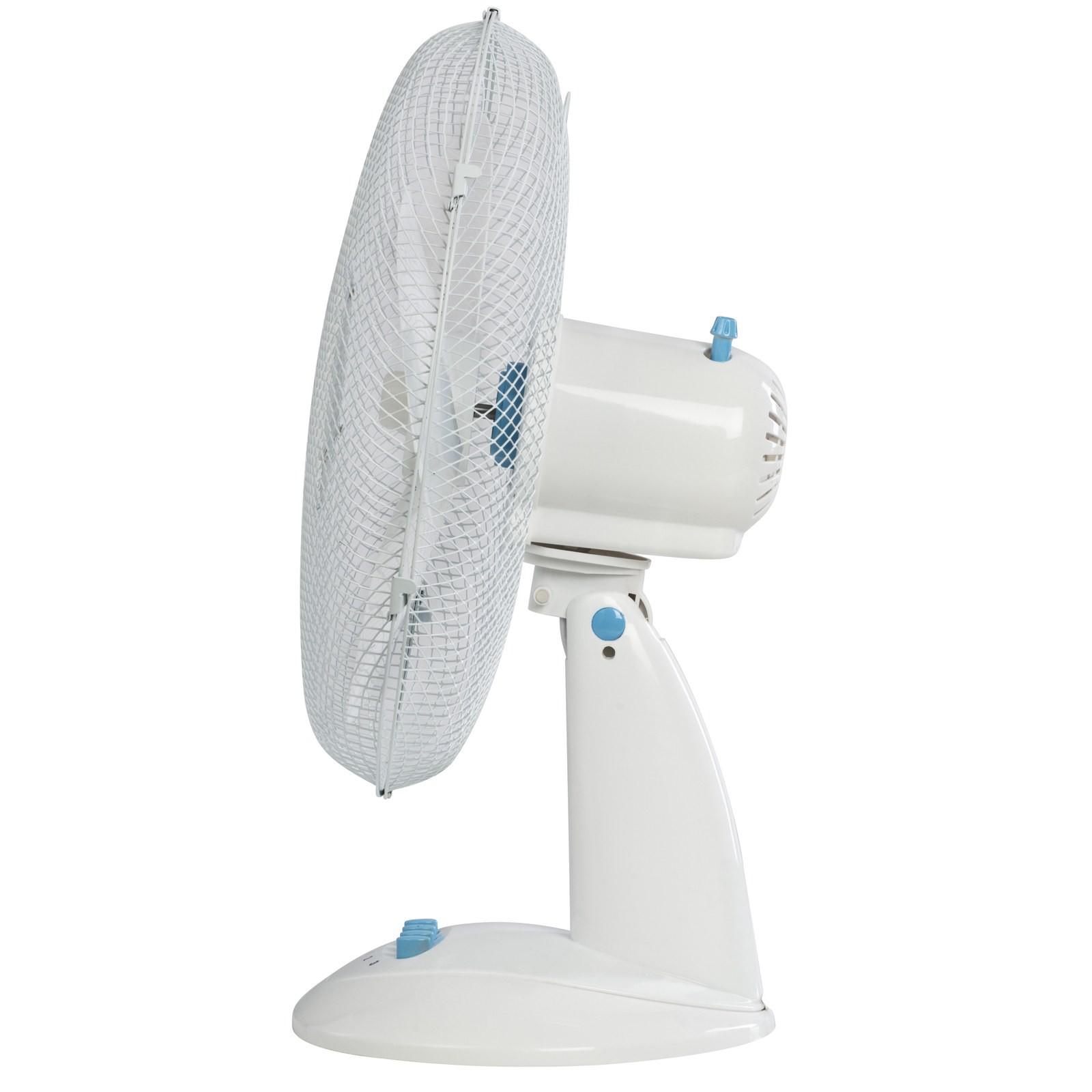 Ventilatore da tavolo oscillante a pale 30 cm 3 velocit area illumina - Ventilatore da tavolo silenzioso ...