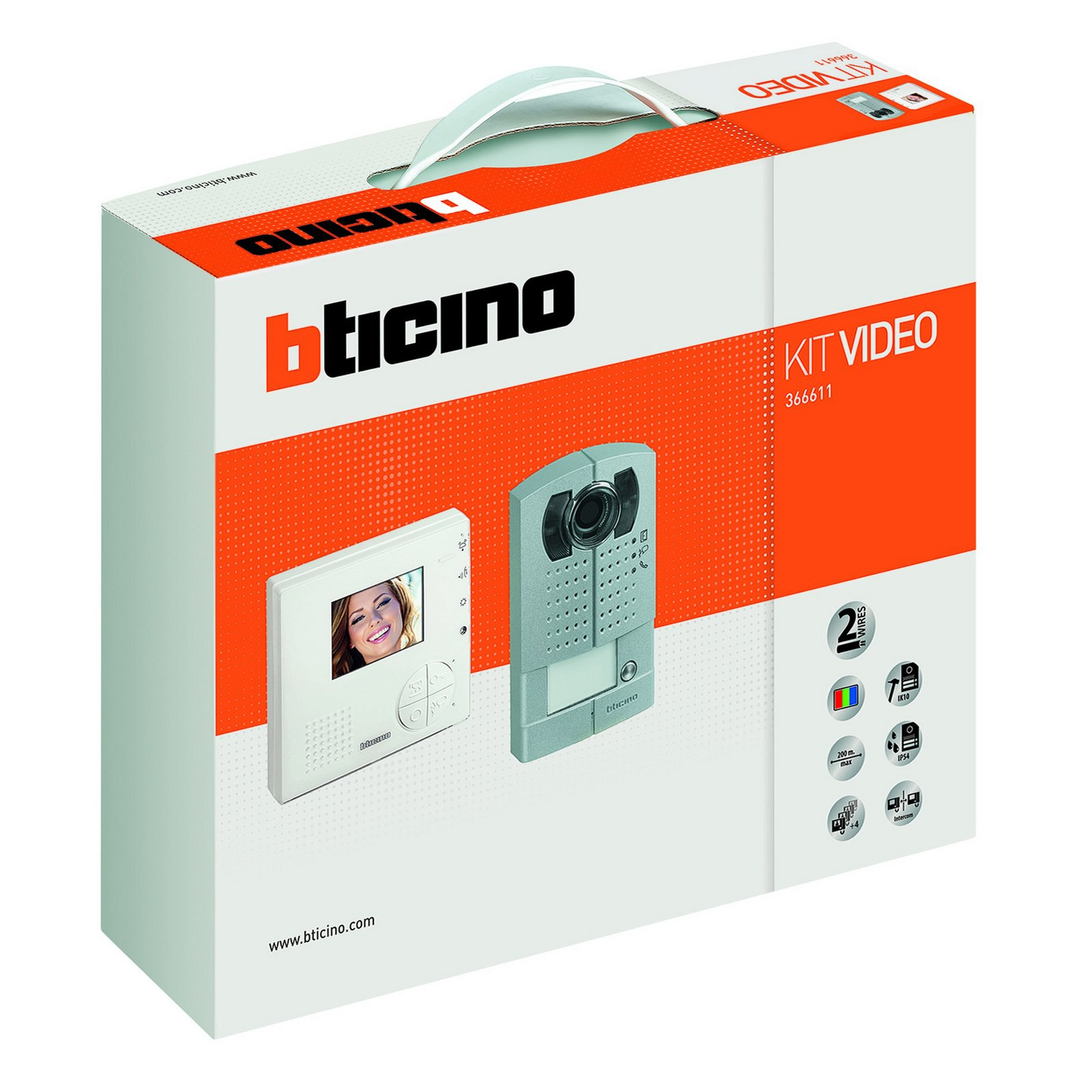 Kit videocitofono monitor video colori 2 fili bticino for Citofono bticino prezzo